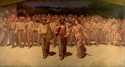 The Fourth Estate (painting) by Giuseppe Pellizza da Volpedo.