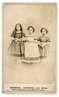 Mixed-race slave girls of predominant European ancestry, New Orleans, 1863