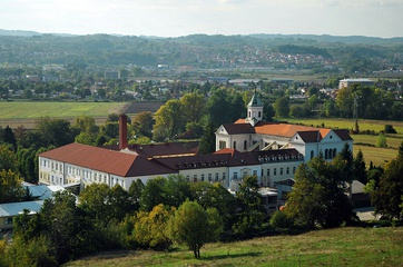The Mariastern abbey, a Trappist abbey famous for its own variety of cheese