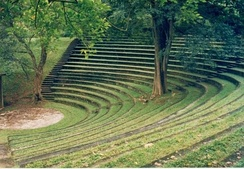 The University of Peradeniya's Sarachchandra open-air theatre, named in memory of Ediriweera Sarachchandra, Sri Lanka's premier playwright.