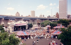 Music stage at Summerfest in 1994