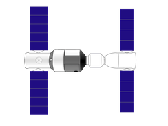 Drawing of Shenzhou docked to Tiangong-1