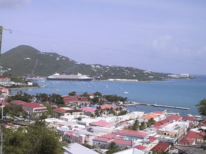 Charlotte Amalie from a Dronningens Quarter overlook