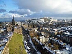 View from the royal apartments of the Stewart monarchs, Edinburgh Castle.