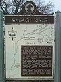 Wabash River historical marker in Mercer County just south of Fort Recovery.