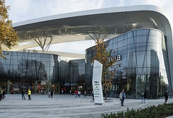 Wroclavia Shopping Mall with a central bus station located underground