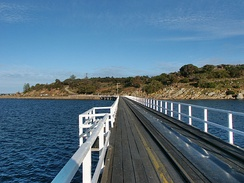 Causeway leading to Granite Island from Victor Harbor