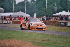 Neal demonstrates his Honda Integra at the 2006 Goodwood Festival of Speed.