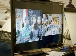 Indonesian and U.S. students participate in an educational videoconference (2010)