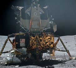 Apollo 16 LM on the Moon
