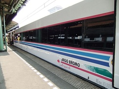 Argo Bromo, a non-stop train connecting Jakarta and Surabaya