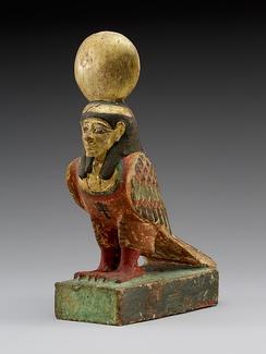 Деревянная статуэтка Ба (332–330 годы до н.э. или позднее). Метрополитен-музей
