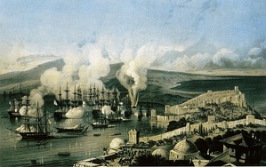 Battle of Sinop, the last major naval battle involving sailing warships.