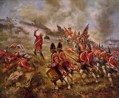 British redcoats at the Battle of Bunker Hill in 1775