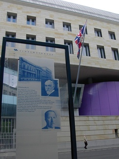 New British Embassy, historical marker displays Ambassadors Lord D'Abernon and Sir Eric Phipps