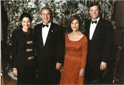 McKernan and his wife, U.S. Senator Olympia Snowe, at a holiday reception at the White House in 2002.