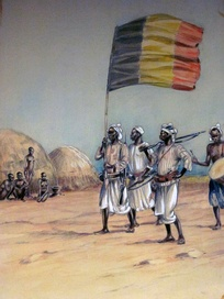 A contemporary depiction of a Belgian expedition during the Congo Arab war