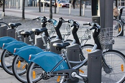 Dublinbikes terminal in the Docklands.