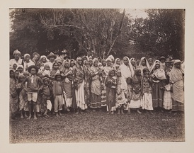 Indian coolie laborers in British Trinidad and Tobago; taken around 1890.
