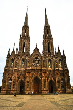 The Cathedral of Our Lady of Guadalupe in Zamora de Hidalgo