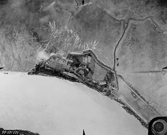 Fort St. Philip from the air in 1935.