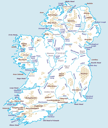 Physical features of Ireland
