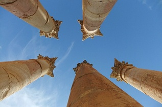 Columns of the Temple of Artemis at Jerash