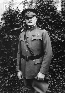 A 1918 photo of General of the Armies John J. Pershing. Pershing maintained a deep and abiding interest in Pershing Rifles for his entire life.