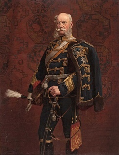 William I in a hussar's uniform, in a painting by Emil Hünten