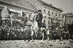 Admiral Horthy during the Hungarians' triumphant entry into Košice, November 1938