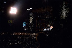Live Aid under the lights at John F. Kennedy Stadium