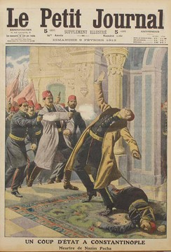 Nazım Pasha, the chief of staff of the Ottoman army, was assassinated by Young Turks due to his failure.