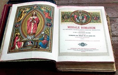 An illustrated 1911 Roman Missal reprint from its 1884 edition