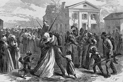 Black volunteer soldiers muster out to their first freedom, Harper's Weekly, 1866