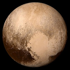The dwarf planet Pluto, after which plutonium is named