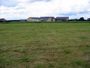 All Saints Academy from behind, to the right of the school is where the Leisure Centre now stands