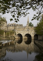 One of Robert Adam's masterpieces, in a largely Georgian setting: Pulteney Bridge, Bath, 1774