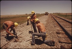 Railroad work.