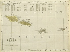 1896 map of the Samoa Islands.