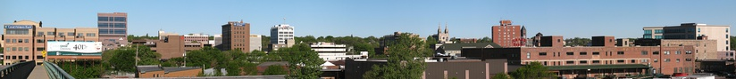 Downtown Sioux Falls in 2010, looking west.