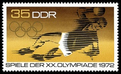 Stamp depicting 1972 Olympics