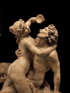 The intoxication of wine by Claude Michel (Clodion), terra-cotta, 1780s-90s