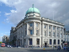 The Royal Society building, at the junction of George Street and Hanover Street in the New Town, Edinburgh