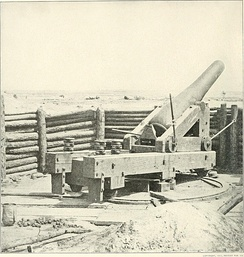 Artillery position, from which General Lee observed the final Federal attack