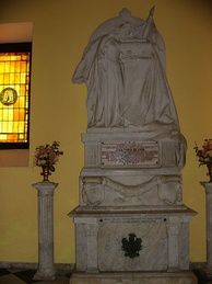 Tomb of Ponce de León in Cathedral of San Juan Bautista in San Juan, Puerto Rico