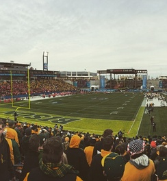 The 2015 championship game between North Dakota State and Jacksonville State at Toyota Stadium