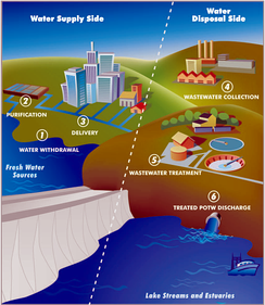 Typical urban water cycle