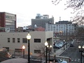 View of Downtown Bridgeport from stairs next to Cabaret Theater