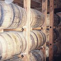 Whiskey barrels in the distillery