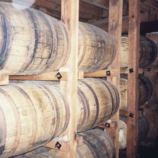 Tennessee whiskey aging in charred new oak barrels at the Jack Daniel's distillery